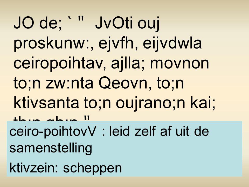 Eij:pe de; aujtw/: oJ basileuvV ` Tiv ouj proskunei:/V to;n Bhvl~