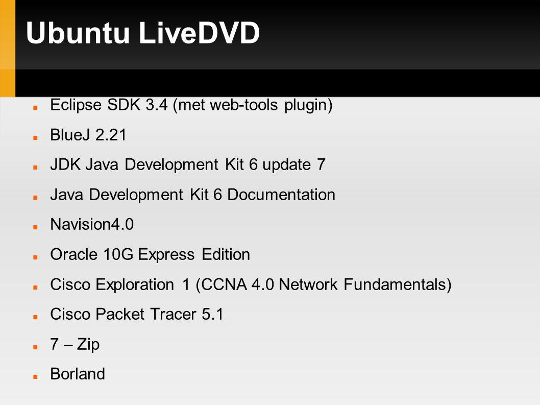 Ubuntu LiveDVD Twee categorieën: ° Windows programma s ° Linux programma s