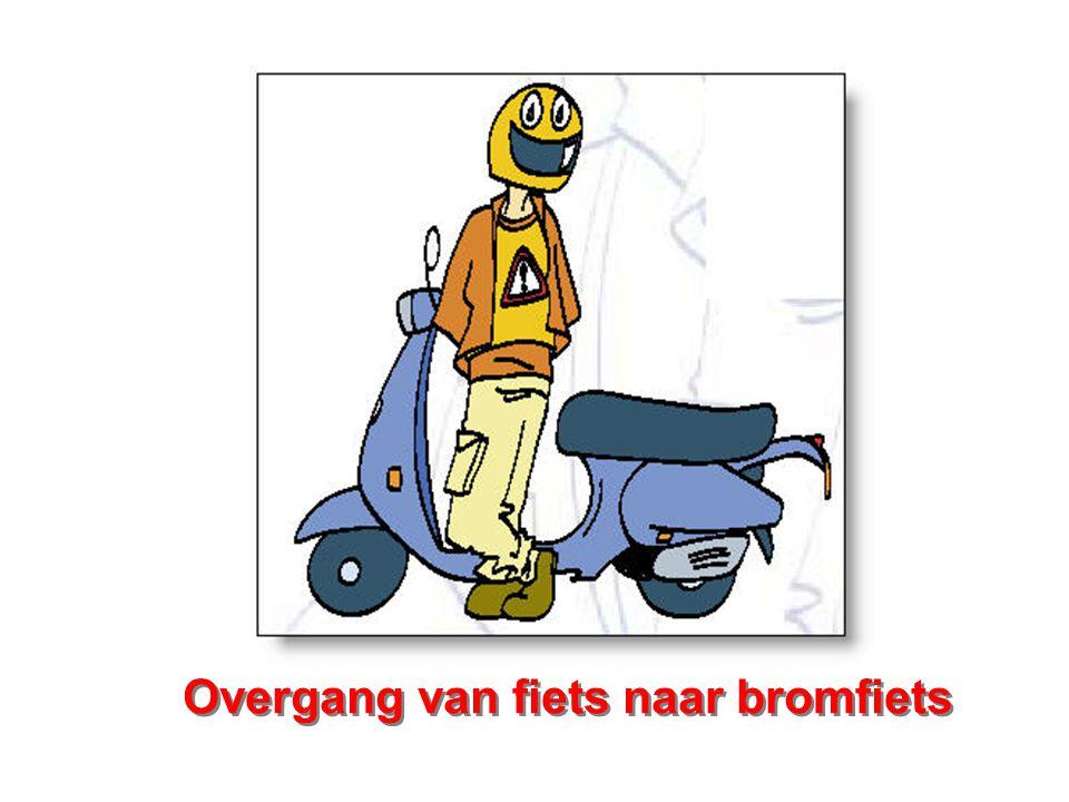 Overgang van fiets naar bromfiets