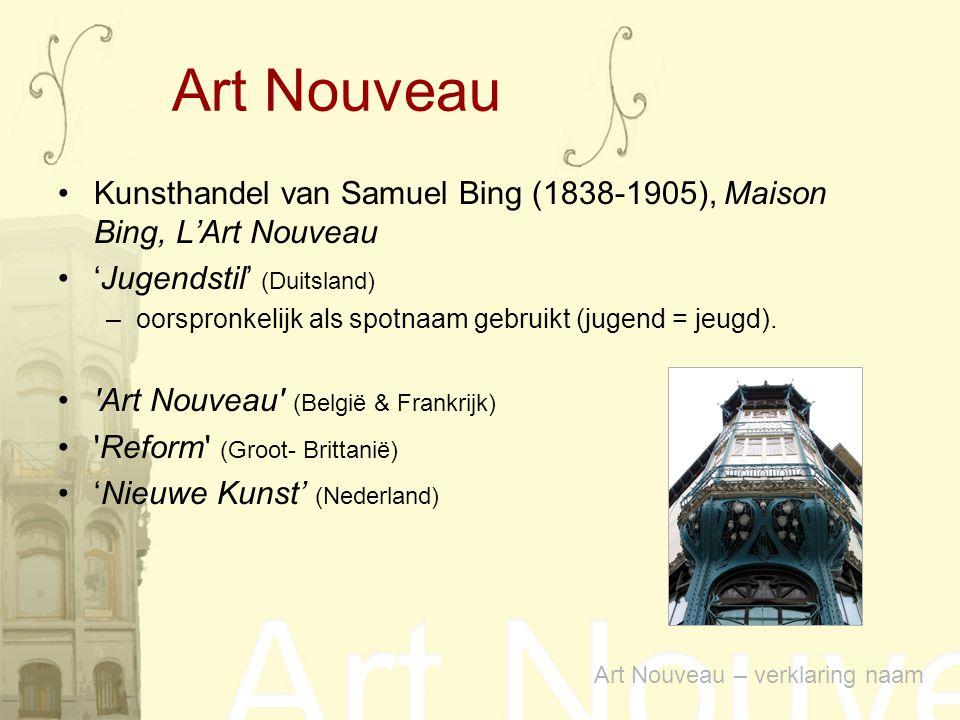 Kunsthandel van Samuel Bing (1838-1905), Maison Bing, L'Art Nouveau 'Jugendstil' (Duitsland) –oorspronkelijk als spotnaam gebruikt (jugend = jeugd). '