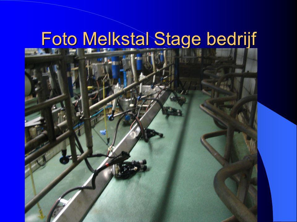 Beschrijving van melksysteem van stage bedrijf Melksysteem Stage bedrijf Visgraat 2x5 (met 10 stellen) Delaval Geen digitale melkmeters Automatische a