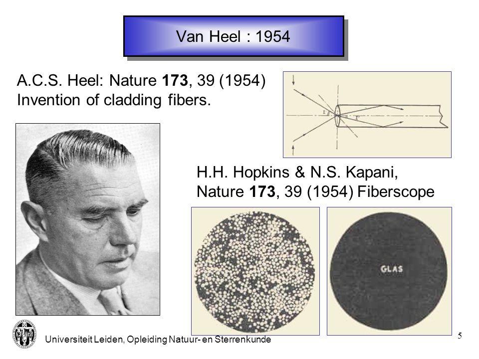 Universiteit Leiden, Opleiding Natuur- en Sterrenkunde 6 Kao : 1966 K.C.