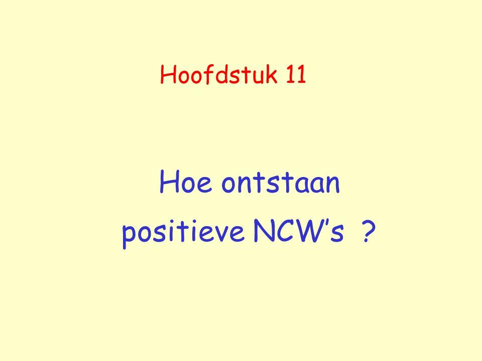 Hoofdstuk 11 Hoe ontstaan positieve NCW's ?