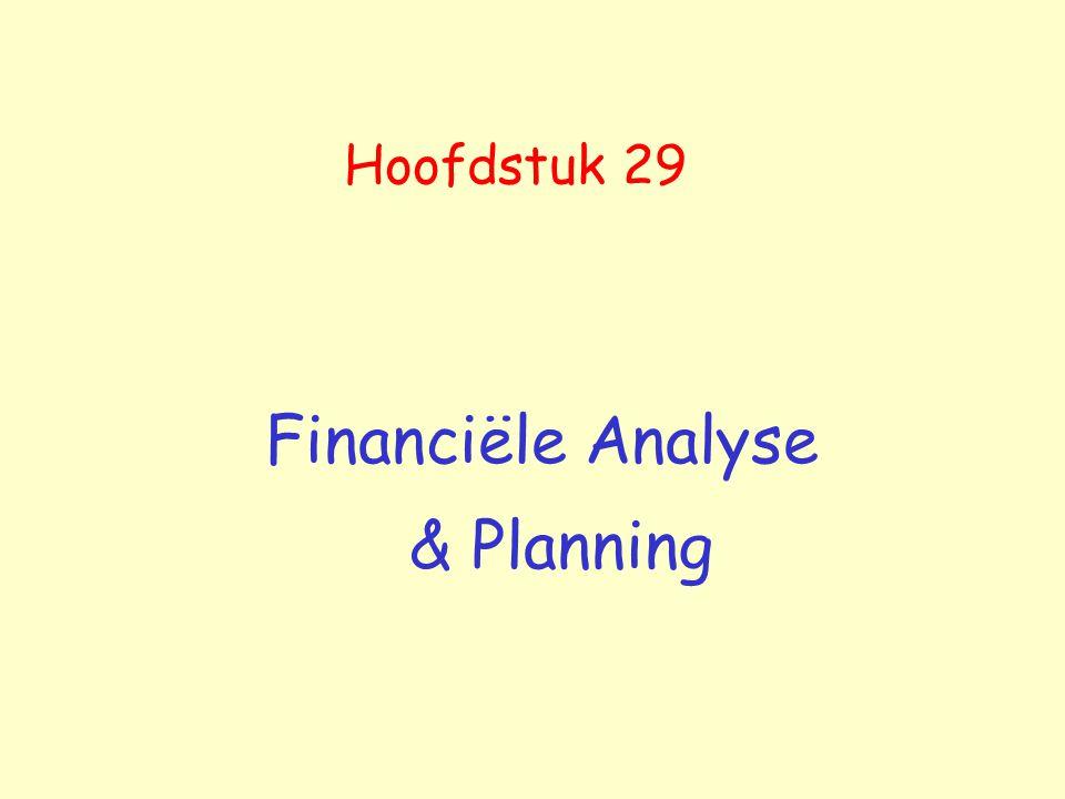 Hoofdstuk 29 Financiële Analyse & Planning