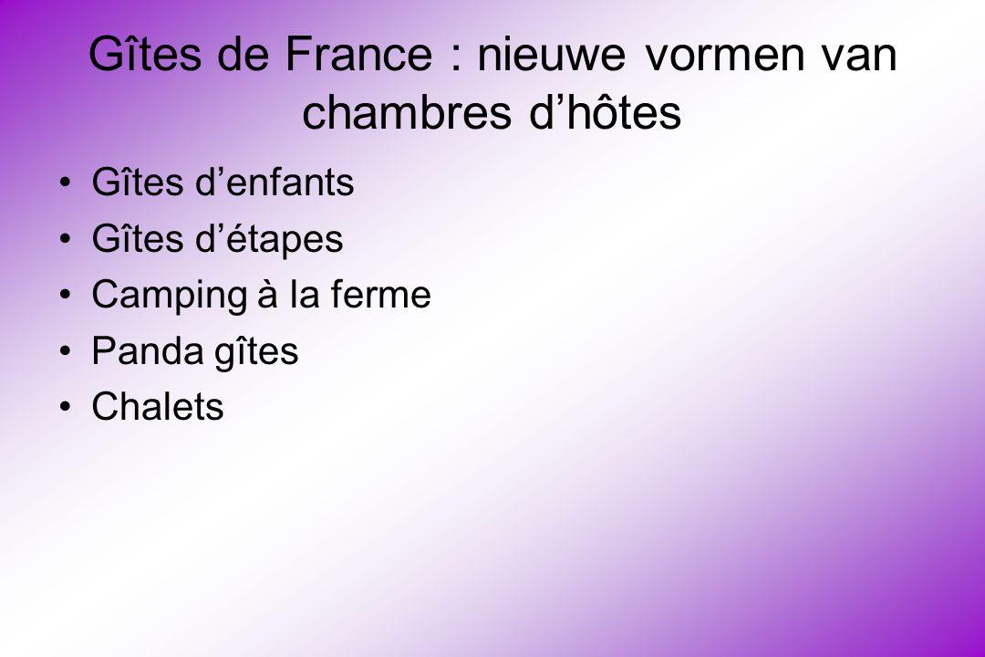 Gîtes de France : nieuwe vormen van chambres d'hôtes Gîtes d'enfants Gîtes d'étapes Camping à la ferme Panda gîtes Chalets