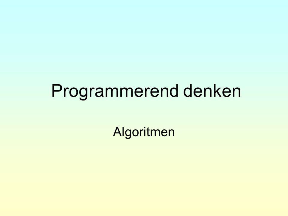 Programmerend denken Begin met de analyse