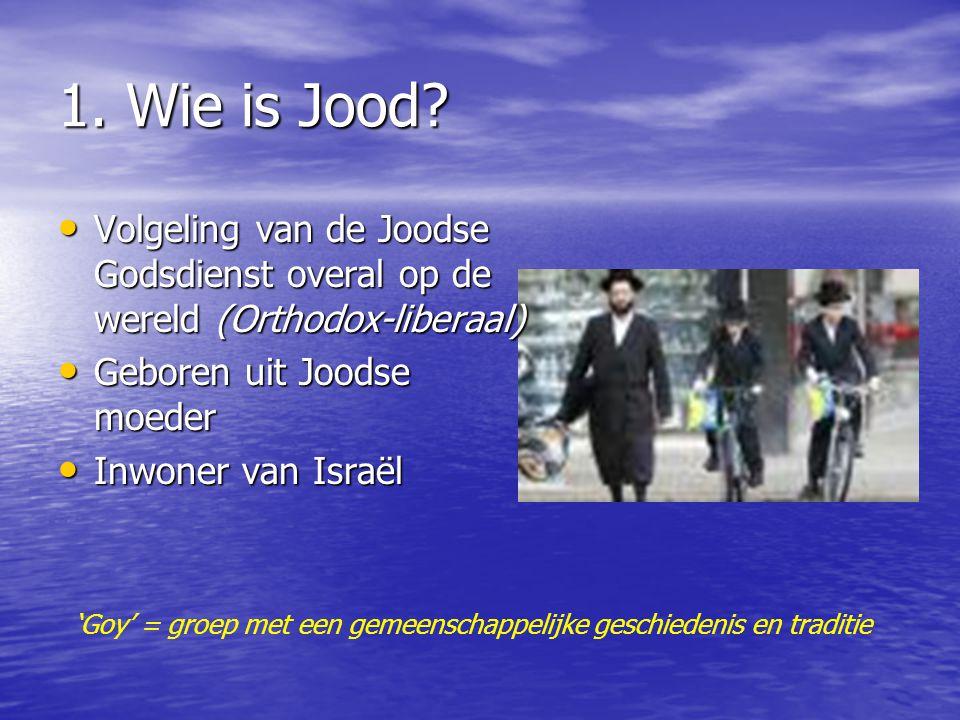 JODEN : een apart volk van GOD 1) Wie is Jood? 2) Een belangrijk volk 3) Een apart volk 4) Een verlangend volk 5) Gods volk