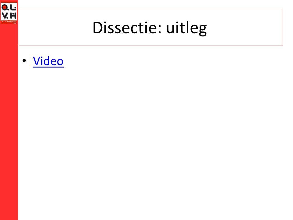 Dissectie: uitleg Video
