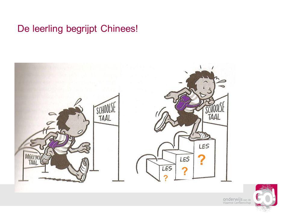 De leerling begrijpt Chinees! ? ? ?