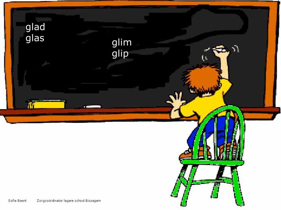 glad glas glim glip Sofie Baert Zorgcoördinator lagere school Bissegem