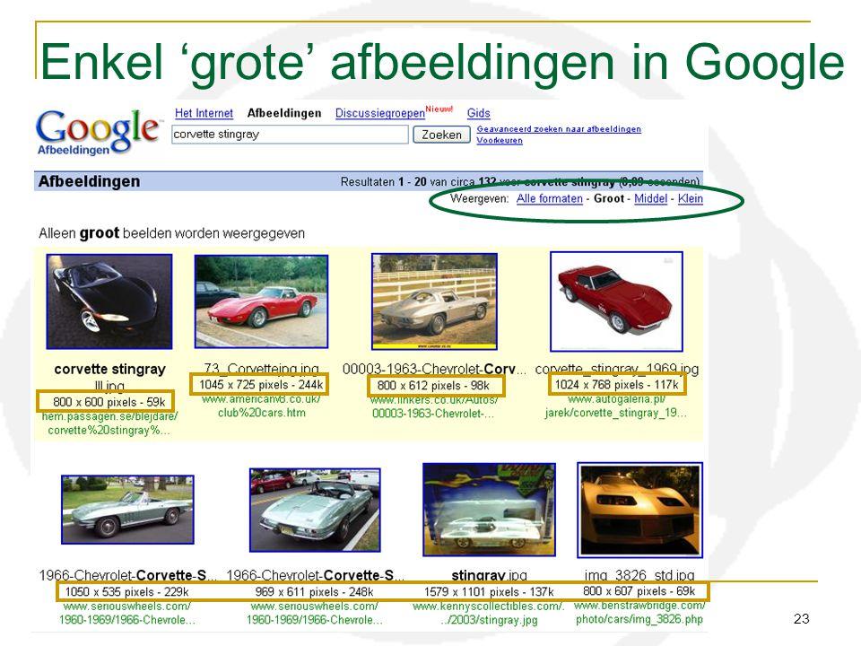 H51 12 resolutie audiovisueel centrum meise 23 Enkel 'grote' afbeeldingen in Google