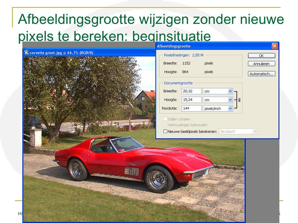 H51 12 resolutie audiovisueel centrum meise 25 Afbeeldingsgrootte wijzigen zonder nieuwe pixels te bereken: beginsituatie