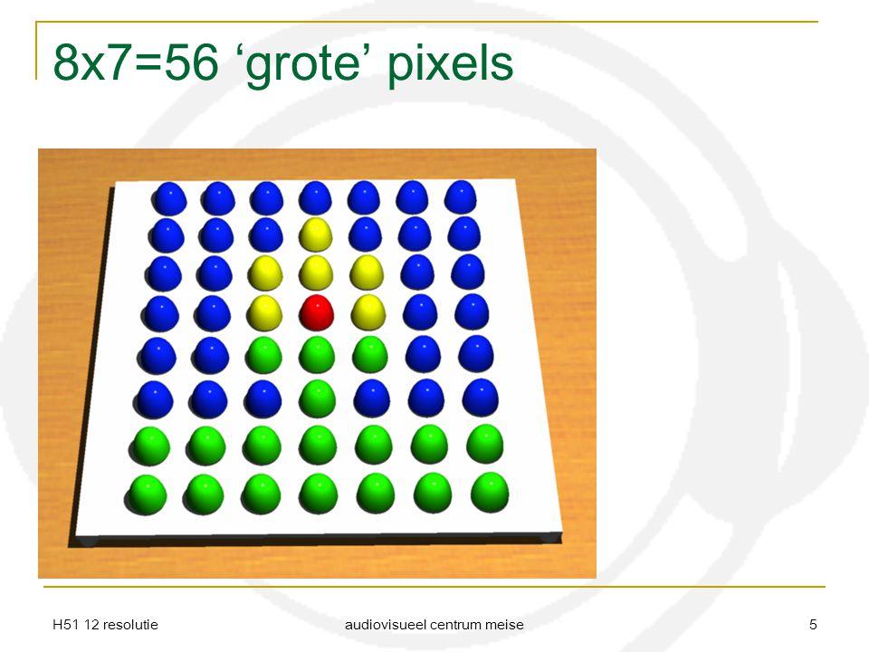 H51 12 resolutie audiovisueel centrum meise 5 8x7=56 'grote' pixels