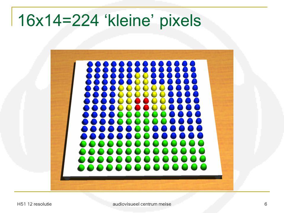 H51 12 resolutie audiovisueel centrum meise 6 16x14=224 'kleine' pixels