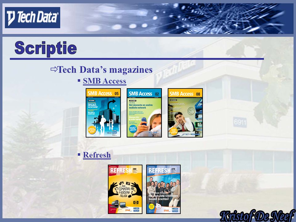  SMB Access  Tech Data's magazines  Refresh