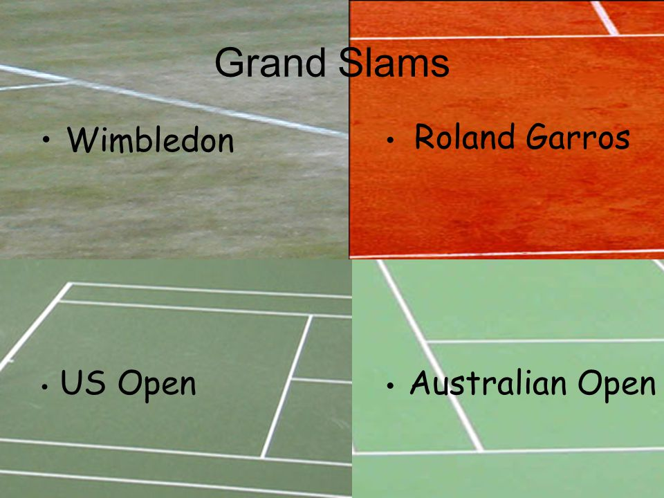 Grand Slams Wimbledon Roland Garros US Open Australian Open