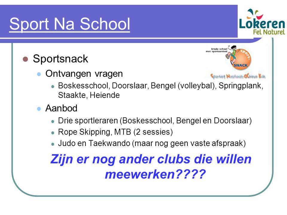 Sport Na School Sportsnack Ontvangen vragen Boskesschool, Doorslaar, Bengel (volleybal), Springplank, Staakte, Heiende Aanbod Drie sportleraren (Boske