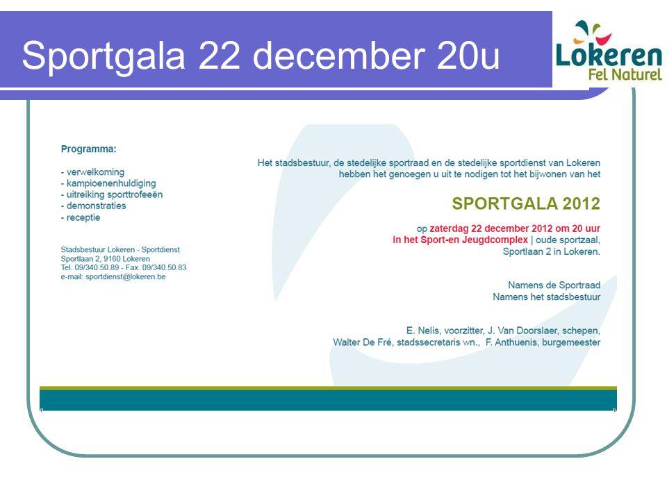 Sportgala 22 december 20u