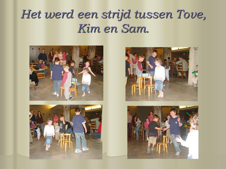 Het werd een strijd tussen Tove, Kim en Sam.