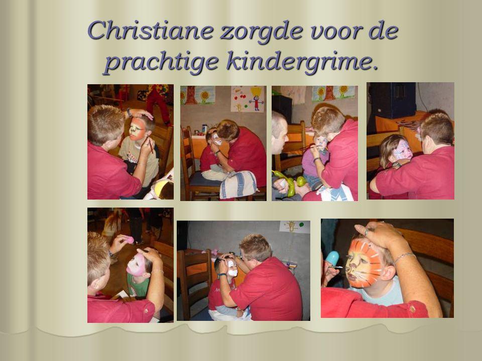 Christiane zorgde voor de prachtige kindergrime.