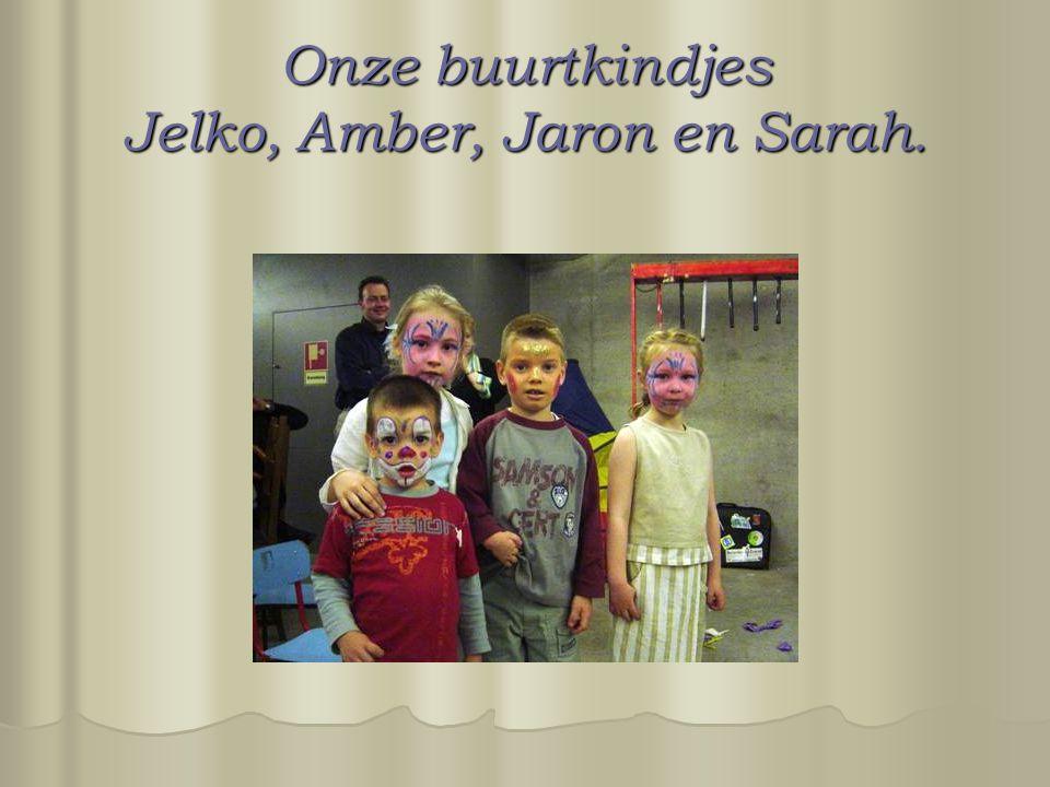 Onze buurtkindjes Jelko, Amber, Jaron en Sarah.