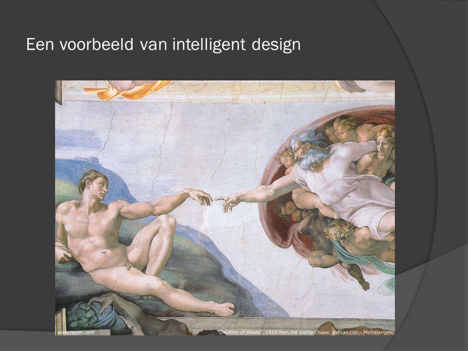 Een voorbeeld van intelligent design