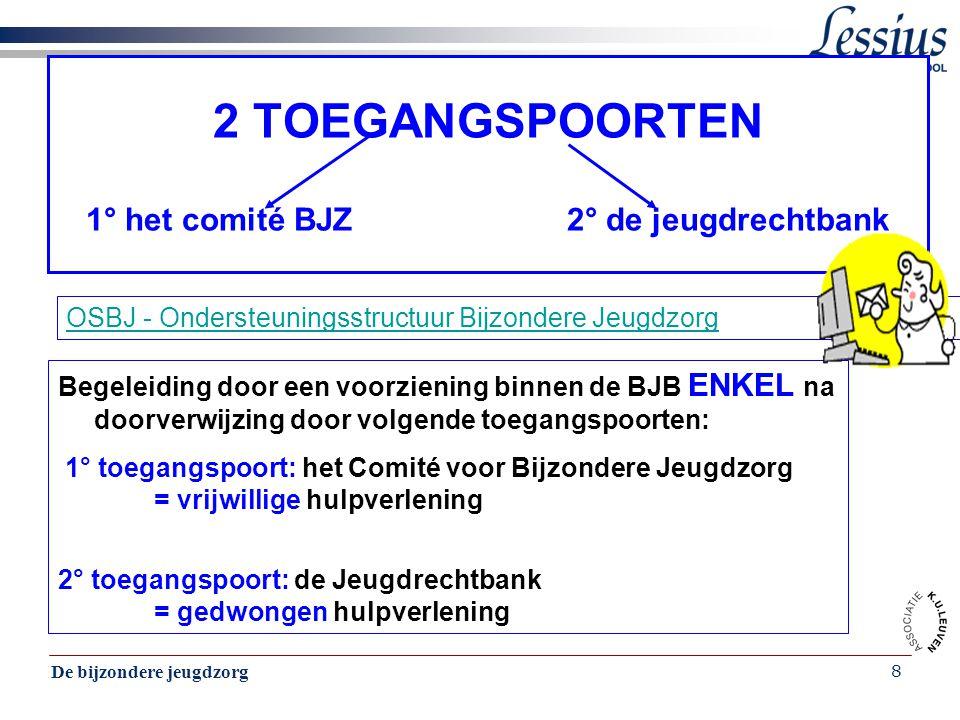 De bijzondere jeugdzorg 39 Casus van de familie Daems Beukenlaan 15, Turnhout De ouders Daems melden zich ten einde raad tot de sociale dienst van de jeugdrechtbank.