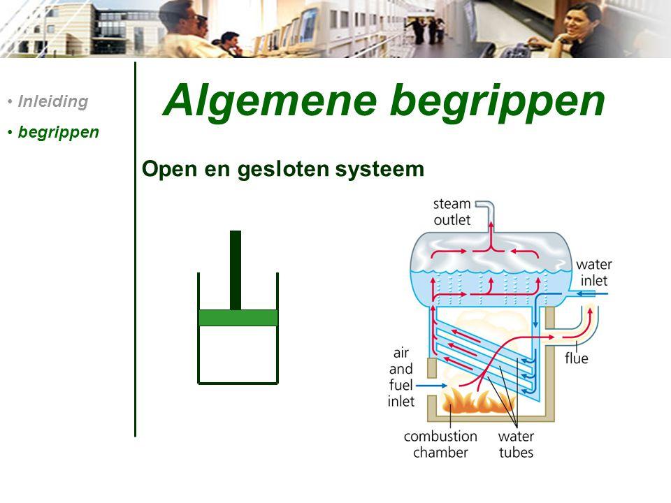 Algemene begrippen Open en gesloten systeem Inleiding begrippen