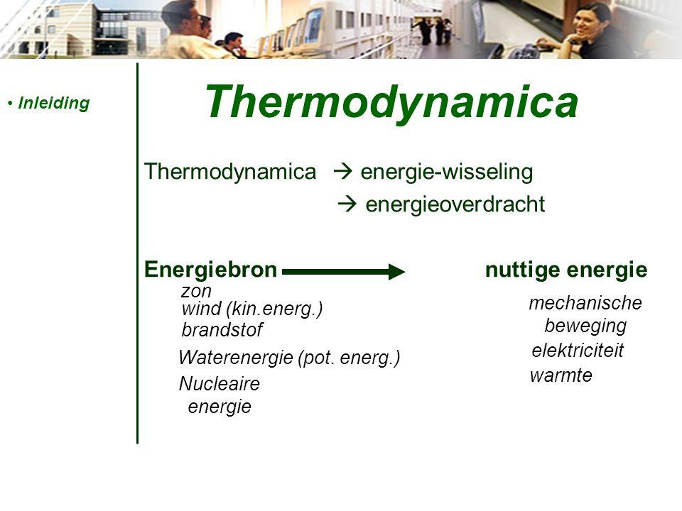 Algemene begrippen Soortelijke warmte = hoeveelheid energie om 1kg van een stof 1°C te laten ↑ c = afh.