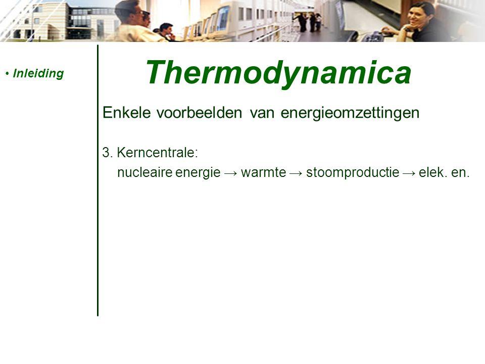 Thermodynamica Enkele voorbeelden van energieomzettingen 3.