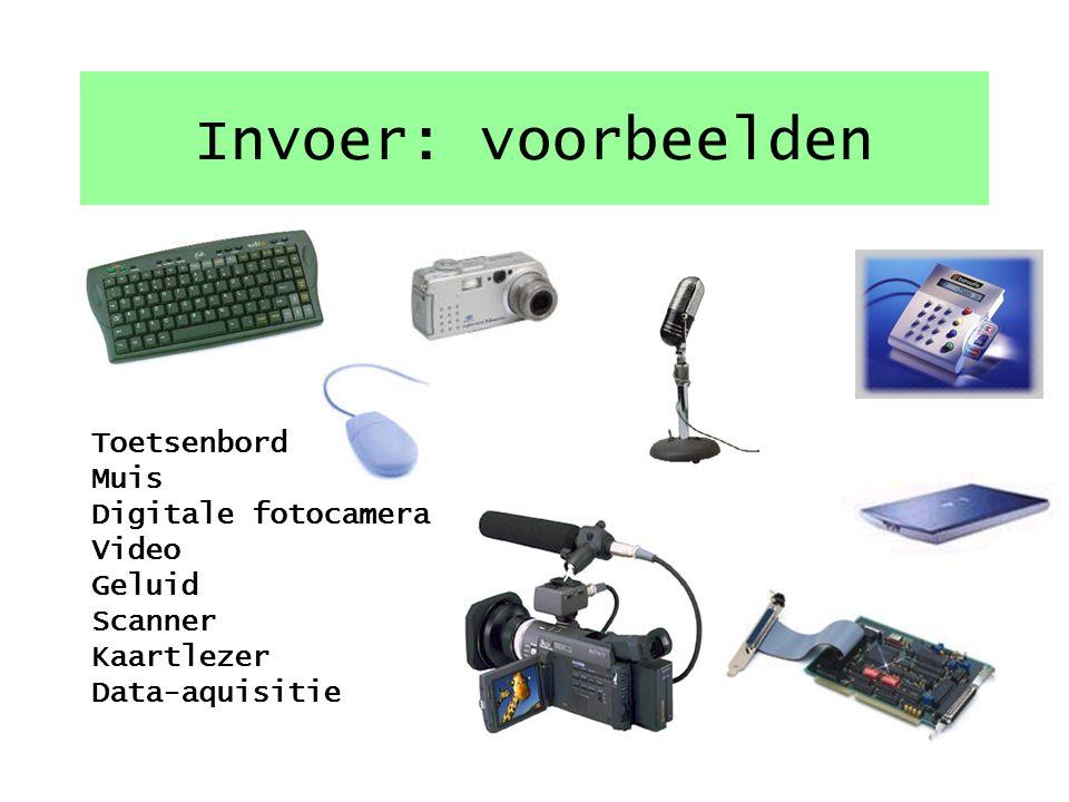 Delen van een computersysteem InvoerVerwerkingUitvoer