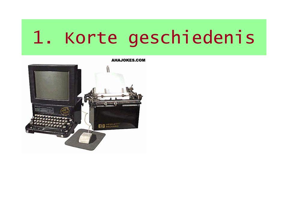Inleiding 1.Korte geschiedenis 2.Wat zit er in een PC, hoe werkt het? 3.Spec's van een PC 4.Aansluiten van de PC 5.Besturingssysteem???? Kort overzich