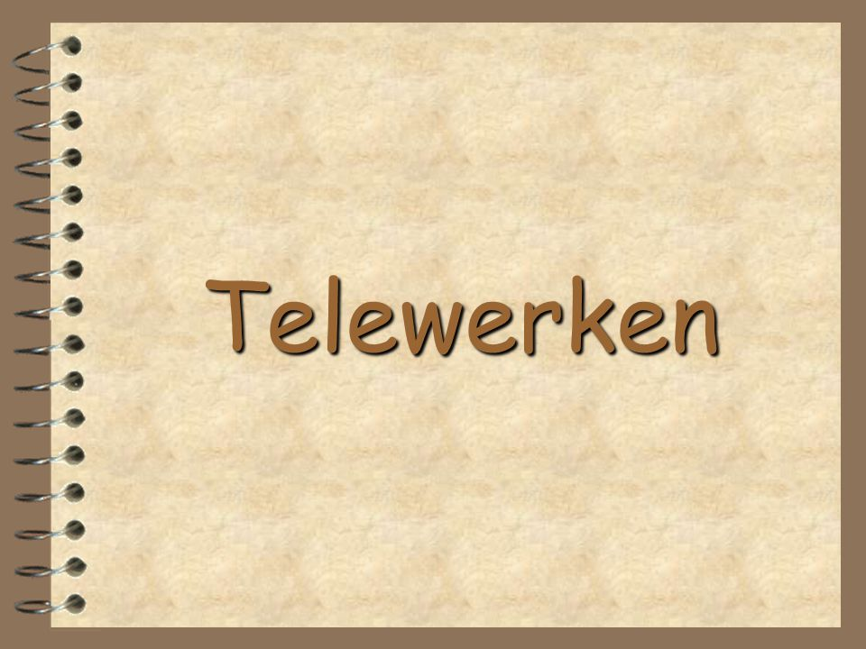 Telewerken