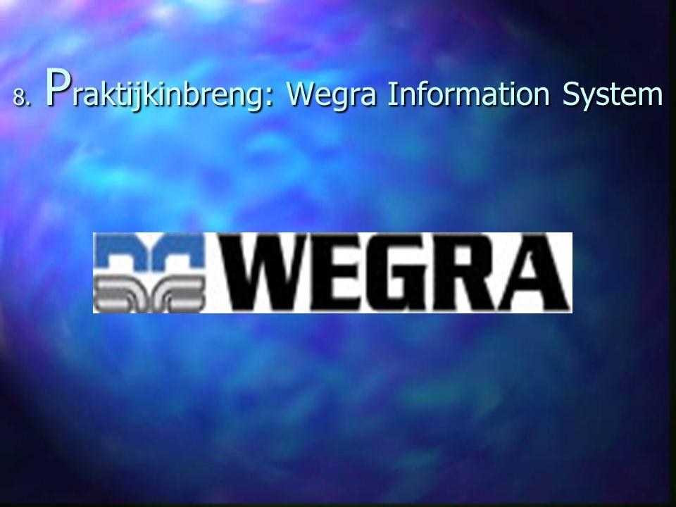 8. P raktijkinbreng: Wegra Information System