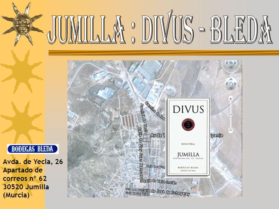 Avda. de Yecla, 26 Apartado de correos nº 62 30520 Jumilla (Murcia)