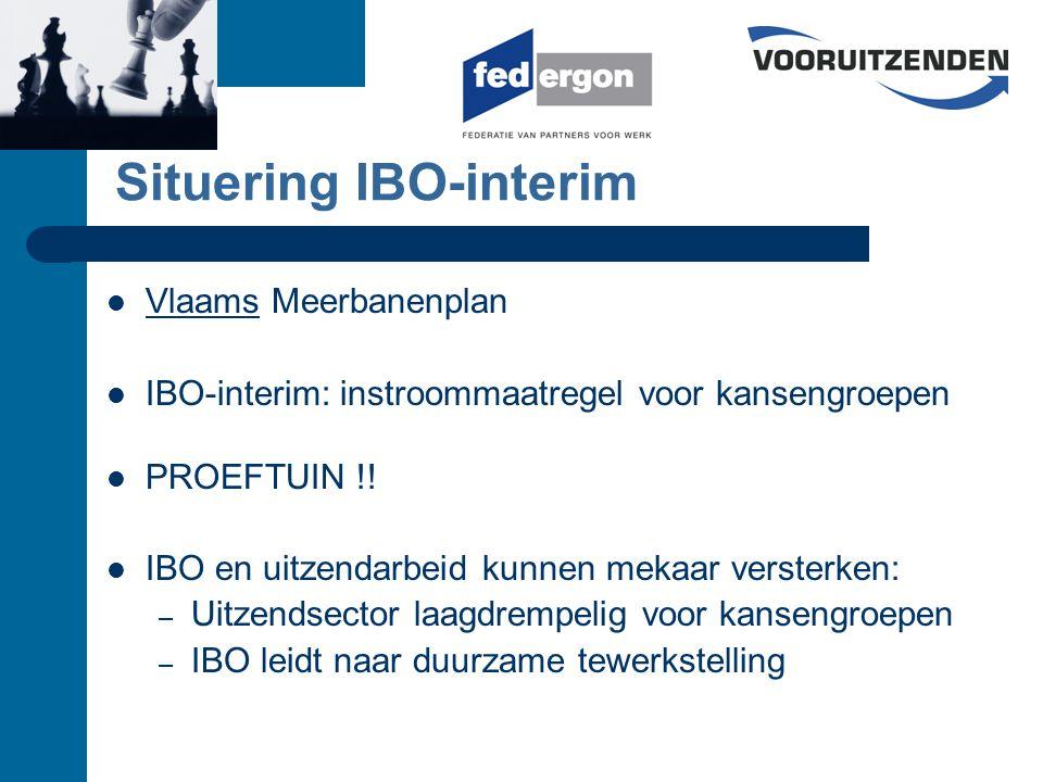 Bedragen all-in (maar exclusief BTW) Fee betaald op moment van overgang IBO-COD UZK factureert maandelijks de fees voor de beëindigde en stopgezette IBO's aan VDAB VDAB betaalt binnen de maand.