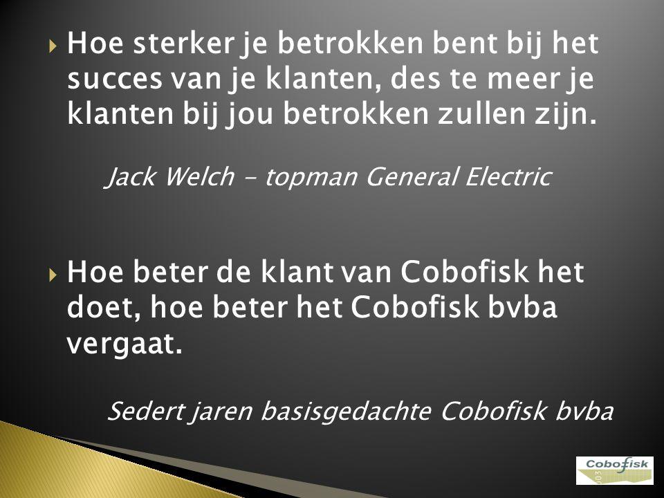 Waarde - innovatie is de hoeksteen van de strategie van Cobofisk bvba Opgepast!!.
