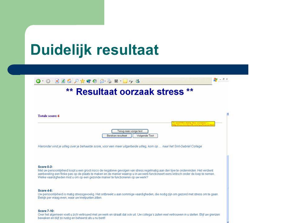 Onmiddellijke berekening stress