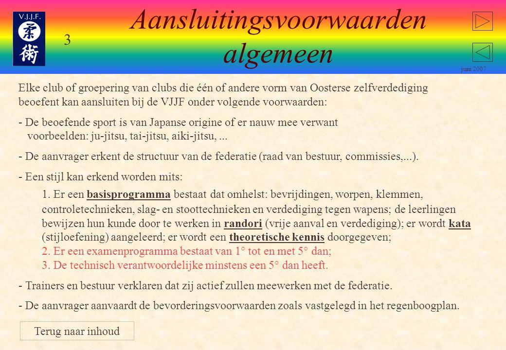 23 juni 2007 4° dan Beoefenaar overzicht Nieuwe Visie of Shodan Shiken Werken aan eigen visie.
