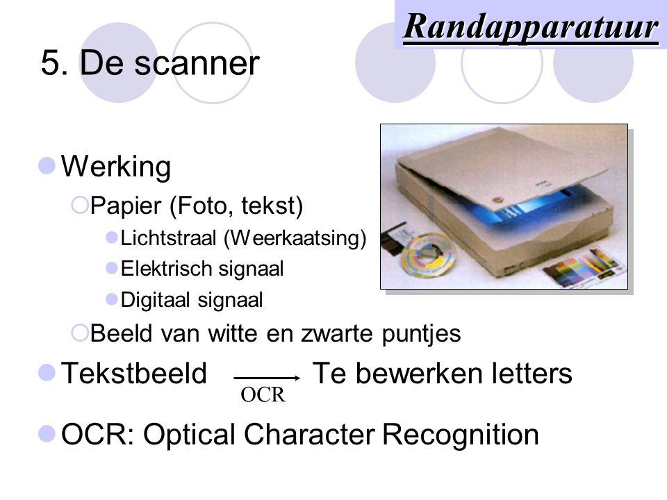 4. Het toetsenbord AZERTY QUERTY Werking  Elektrische schakelaars  Scancode  ASCII-code Elektrisch signaal Processor Scancode Hardware Software Ran
