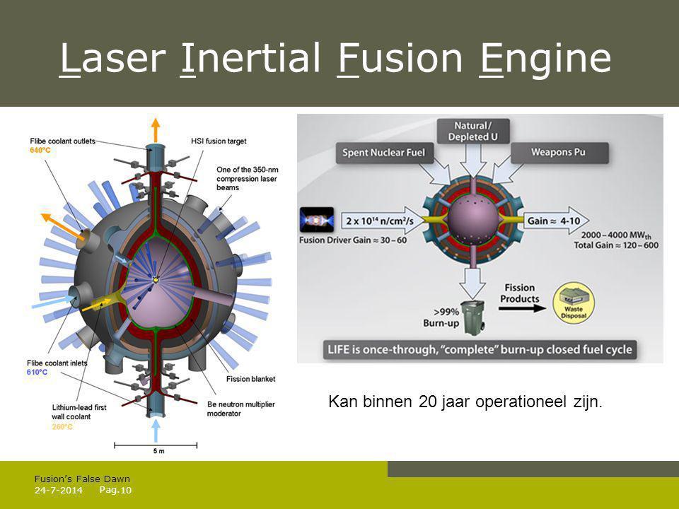 Pag. 24-7-201411 Fusion's False Dawn Of Fusion Falls Down?! 5) Conclusie