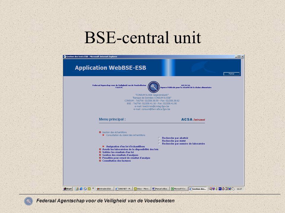 Federaal Agentschap voor de Veiligheid van de Voedselketen BSE-central unit