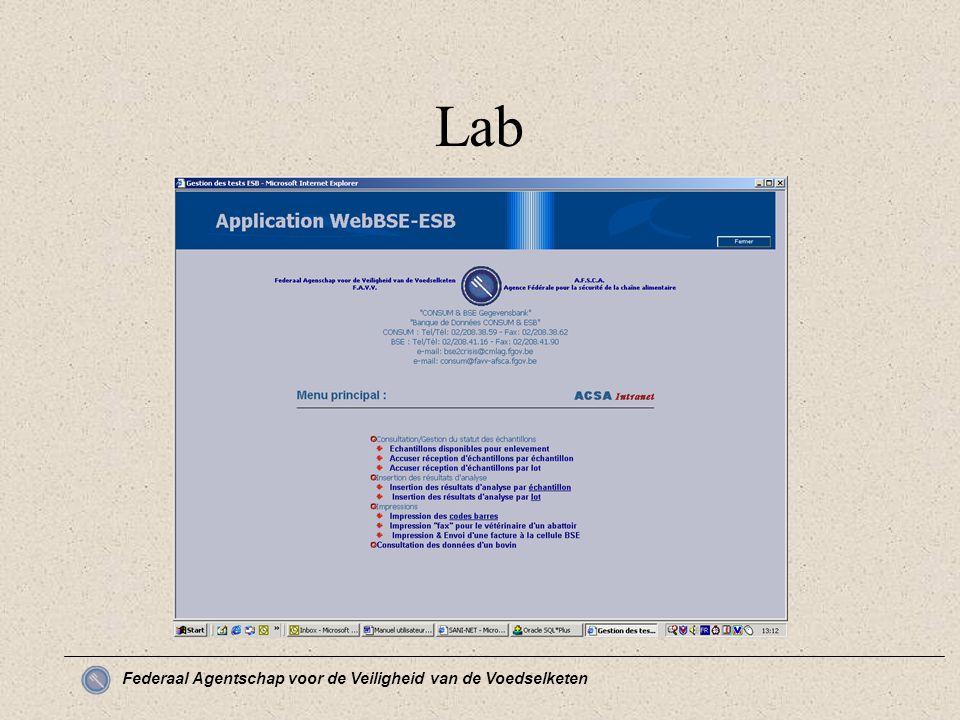 Federaal Agentschap voor de Veiligheid van de Voedselketen Lab