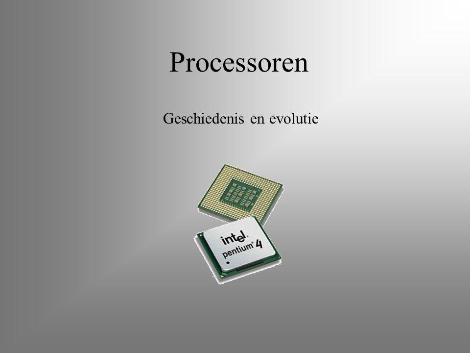 Processoren Geschiedenis en evolutie