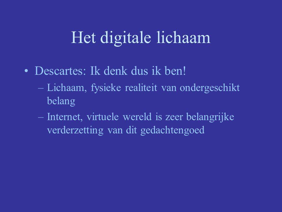 Het digitale lichaam Descartes: Ik denk dus ik ben.