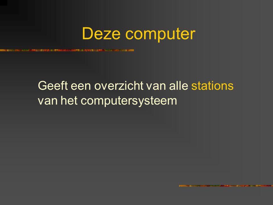 Deze computer Geeft een overzicht van alle stations van het computersysteem