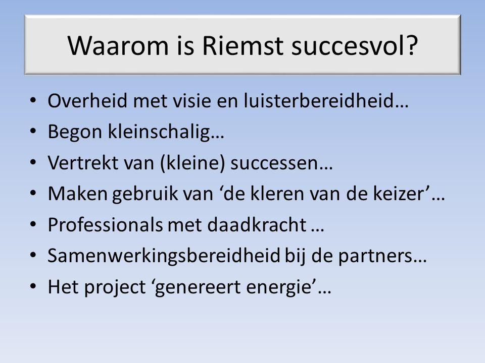 Waarom is Riemst succesvol.