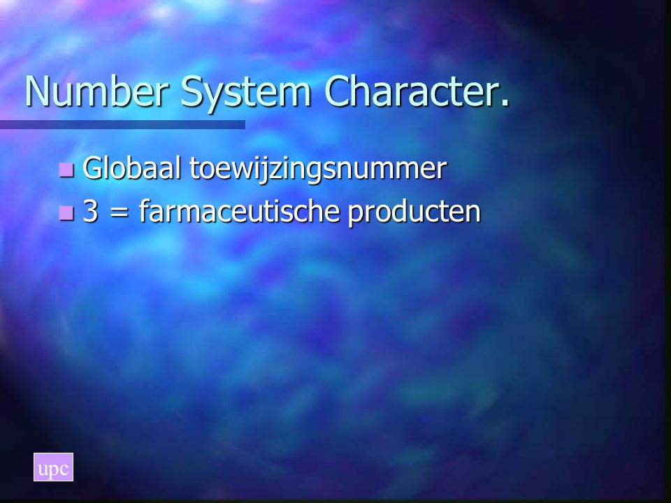 Number System Character.