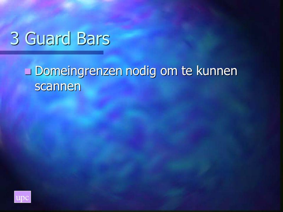 3 Guard Bars Domeingrenzen nodig om te kunnen scannen Domeingrenzen nodig om te kunnen scannen upc