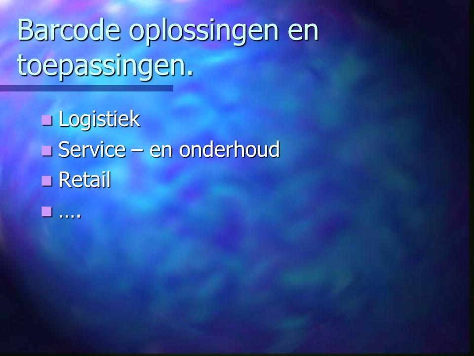 Barcode oplossingen en toepassingen.